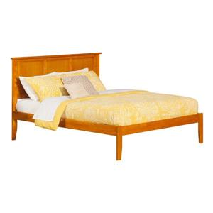 Atlantic Furniture Madison Queen Platform Bed with Open Footboard - Caramel