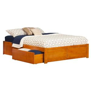 Atlantic Furniture Orlando King Platform Bed with Footboard and Two Drawers