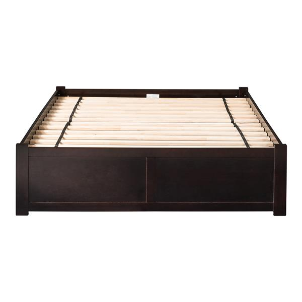 Atlantic Furniture Concord King Bed with Footboard and Two Drawers