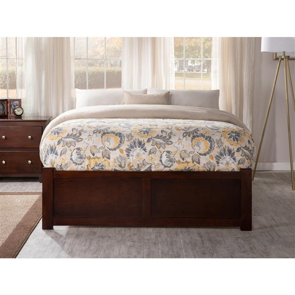 Atlantic Furniture Concord Full Bed with Footboard and Two Drawers - Walnut