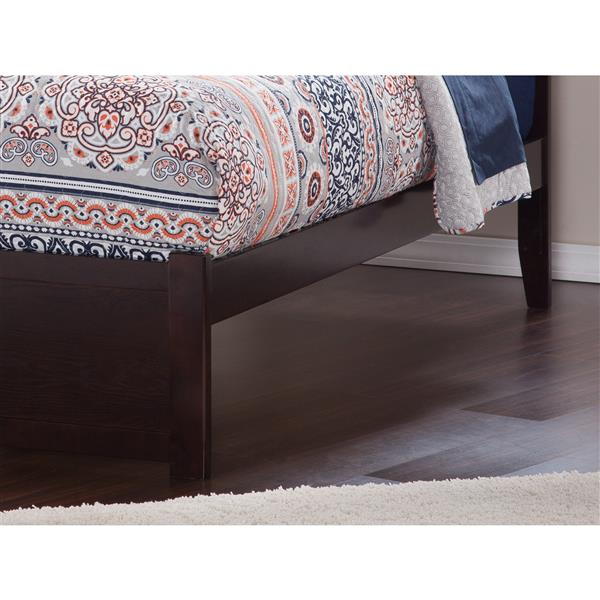 Atlantic Furniture Concord Queen Bed with Footboard and Two Drawers - Espresso