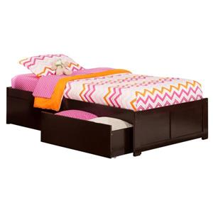 Concord Bed with Footboard and Two Drawers - Espresso