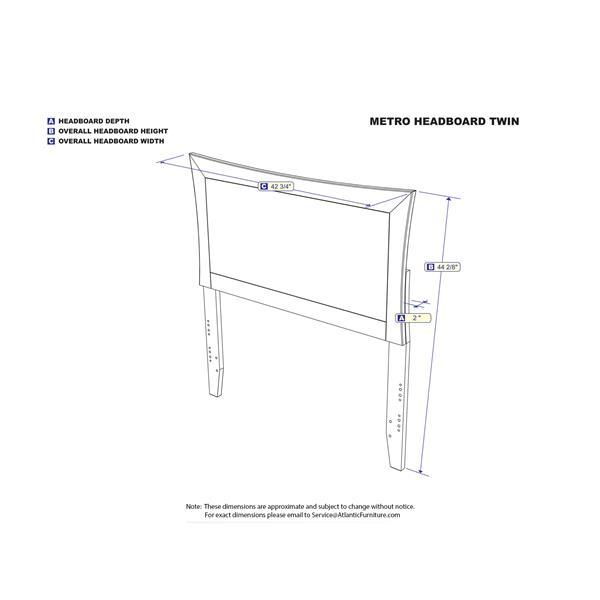 Atlantic Furniture Metro Full Contemporary Headboard - Caramel
