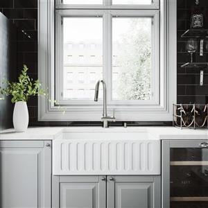 """Évier de cuisine avec robinet et crépine Vigo(MD), 30"""""""