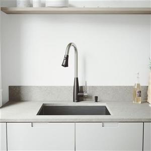 """Évier avec robinet, grille et crépine Vigo(MD), 22"""" x 18"""""""