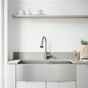 """Évier avec robinet, grilles et crépines Vigo(MD), 36"""""""