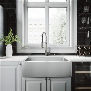 """Évier avec robinet, grille et crépine Vigo(MD), 30"""""""