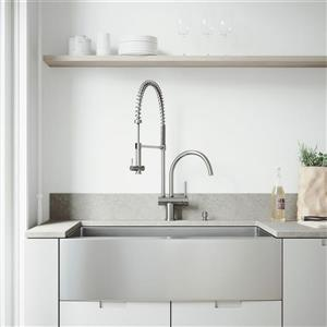 Vigo® Kitchen Sink with Faucet, Grid and Strainer - 36