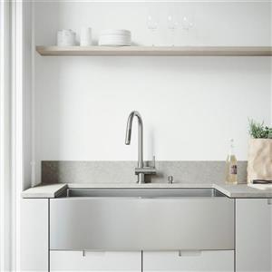 Évier avec robinet, grille et crépine Vigo(MD), 36