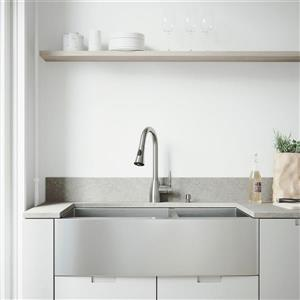 Évier avec robinet, grilles et crépines Vigo(MD), 36