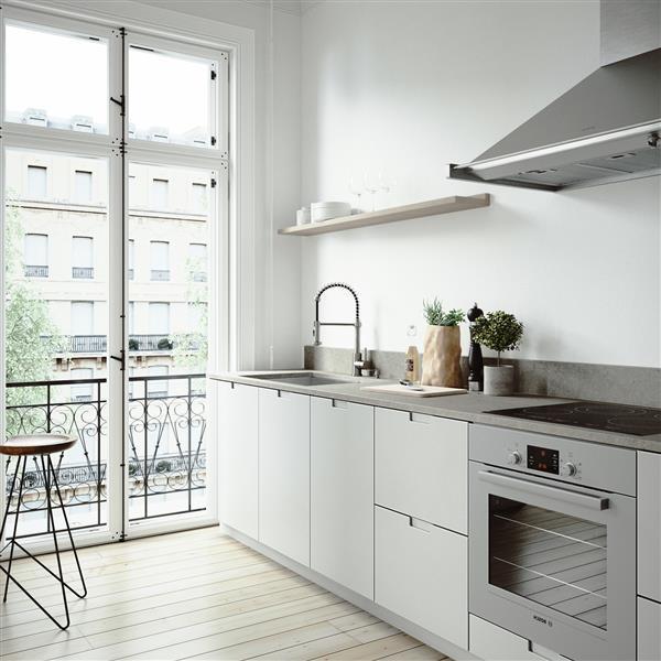 """Évier avec robinet, grille et crépine Vigo(MD), 29"""""""