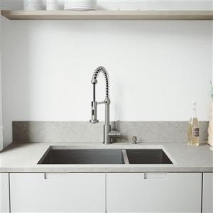 Vigo® Kitchen Sink with Faucet, Grids and Strainers - 29