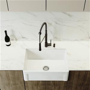 VIGO Apron Front Kitchen Sink - 27-in - White