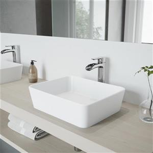 Vasque et robinet de salle de bain «Marigold», chrome