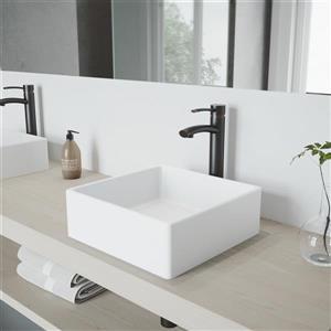 Vasque et robinet de salle de bain «Dianthusde», nickel