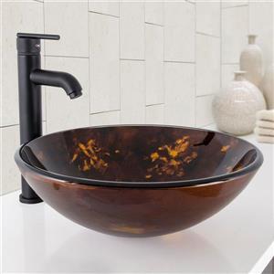 Vasque et robinet de salle de bain Vigo(MD), noir mat