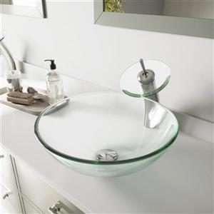 Vasque et robinet de salle de bain «Crystalline» de Vigo(MD)