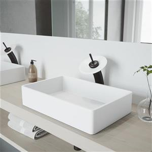 Robinet pour salle de bain avec applique mat «Waterfall»