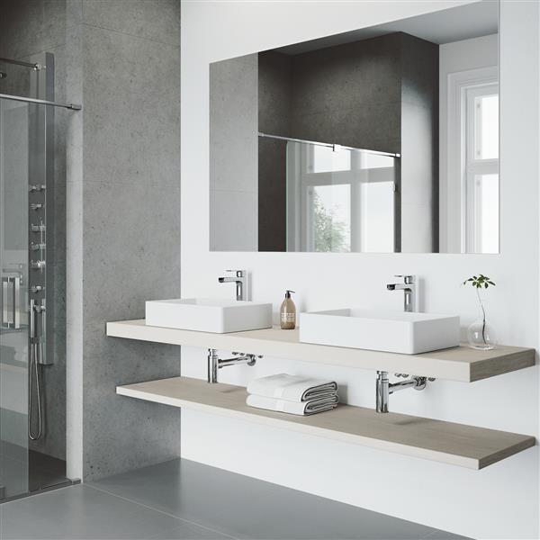 Robinet pour salle de bain «Amada», 1 poignée, chrome