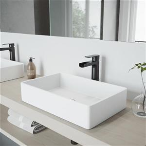 Robinet pour salle de bain «Amada», 1 poignée, noir mat