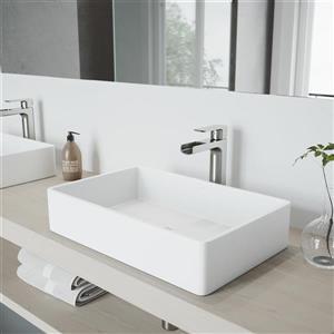 Robinet pour salle de bain «Amada», 1 poignée, nickel
