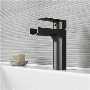 Robinet de salle de bain monotrou «Ileana», 1 poignée, noir