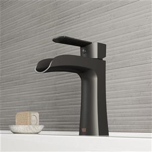 Robinet pour salle de bain «Paloma», 1 poignée, noir mat