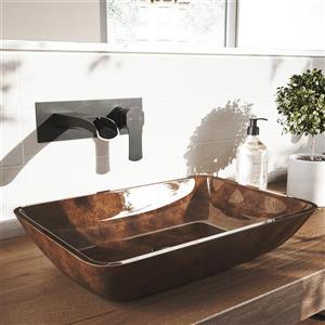 Robinet pour salle de bain mural «Cornelius», noir mat