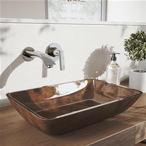 Robinet de salle de bain mural «Aldous», 1 poignée, chrome
