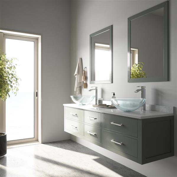 Vigo Crystalline Vessel Bathroom Sink With Faucet Vgt890 Rona