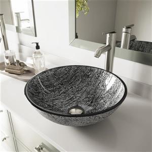 Vasque et robinet de salle de bain «Titanium», bronze