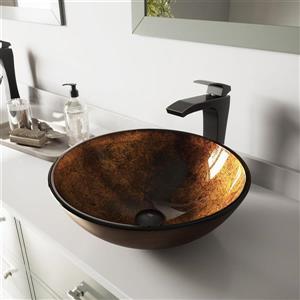 Vasque et robinet de salle de bain Vigo(MD), bronze