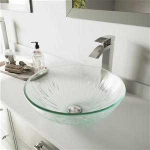 Vasque et robinet de salle de bain «Icicles», nickel