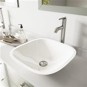 Vasque et robinet de salle de bain «Marie», nickel