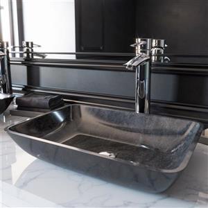 Vasque de salle de bain en verre de Vigo(MD), multicolore