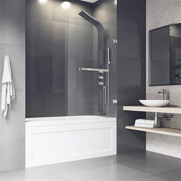 Porte de baignoire en verre «Orion» de Vigo(MD), transparent