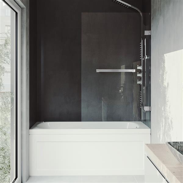 Porte de baignoire «Orion» de Vigo(MD), transparent/chrome