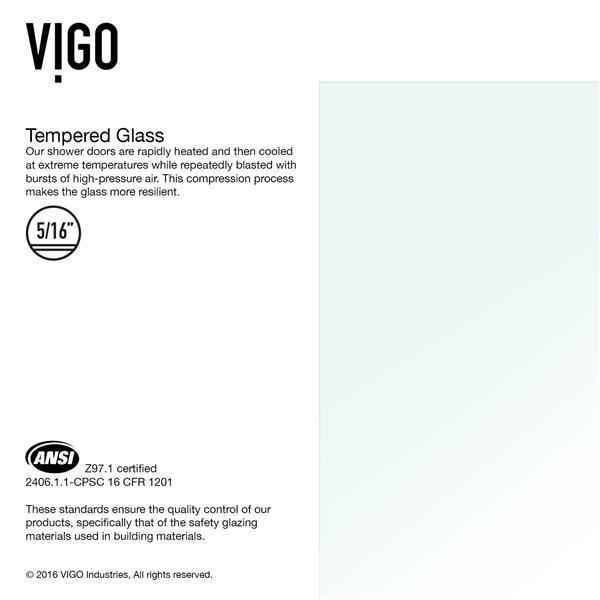 VIGO Orion Glass Bathtub Door - Clear/Bronze