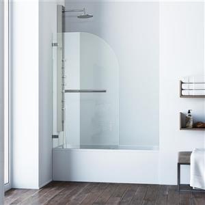 VIGO Orion Glass Bathtub Door - Clear/Stainless Steel