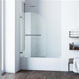 VIGO Orion Glass Bathtub Door - Clear/Chrome