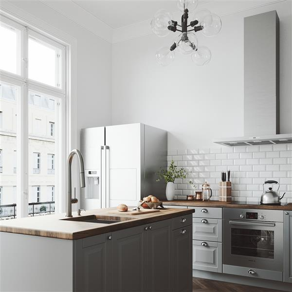VIGO Greenwich Pull-Down Spray Kitchen Faucet - Stainless
