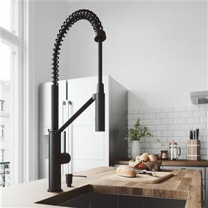 Vigo Livingston Magnetic Kitchen Faucet - Matte Black