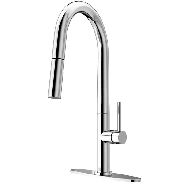 VIGO Greenwich Pull-Down Spray Kitchen Faucet - Chrome