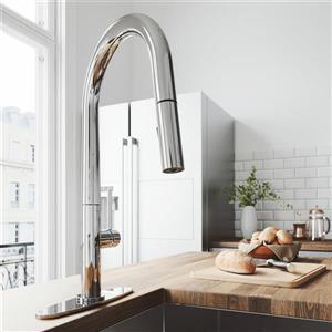 Robinet de cuisine avec bec rétractable «Greenwich», chrome