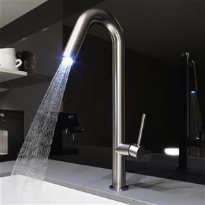 Vigo Oakhurst LED Pull-Down Kitchen Faucet - Stainless Steel