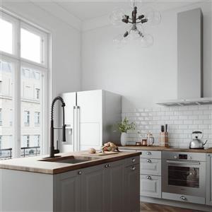 Robinet de cuisine avec bec rétractable «Laurelton», noir