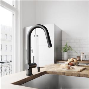 VIGO Gramercy Pull-Down Kitchen Faucet - Matte Black