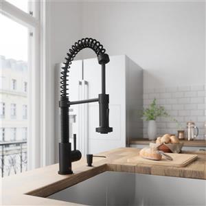 VIGO Edison Pull-Down Spray Kitchen Faucet - Matte Black