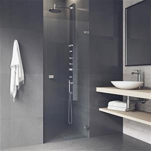 VIGO Tempo Frameless Shower Door - 24-in x 22-in x 70-in - Clear Glass