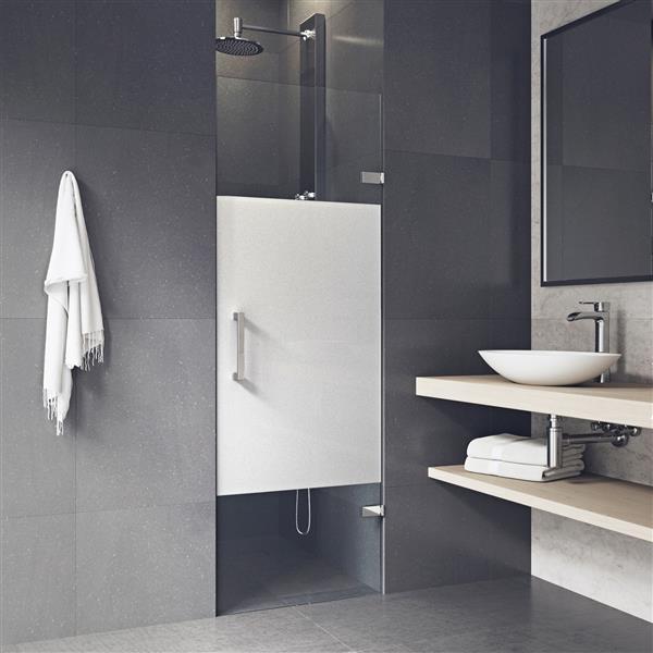 VIGO Soho Frameless Shower Door - 28-in x 26-in x 70-in - Privacy Glass